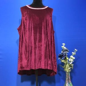 DB Established 1962 Burgundy Embellished Tunic Top